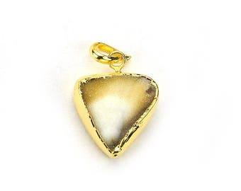 Rough Geode Druzy Pendant 22k Gold Electroplated Gemstone Druzy Necklace Pendant GemMartUSA (NP-50783)