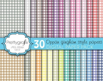 80% OFF SALE gingham digital paper, commercial use, scrapbook papers, background - PS602