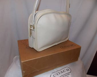 Coach 'Camera' Bag ~ #078-7735~(#7960) ~ brass ~ bone ~ nyc! excellent-new-never used!