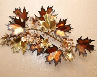 Medium Curtis Jere Signed The Leaves Wall Sculpture