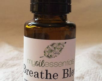 Breathe Essential Oil Blend, with Basil, Peppermint, Eucalyptus and Laurel Leaf