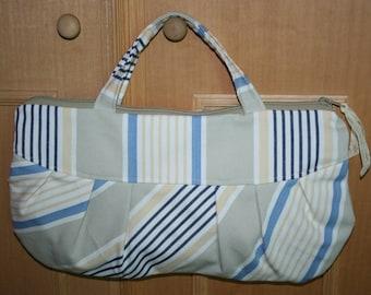 handmade bag striped cotton
