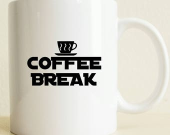Coffee Lover Cup | Coffee Gift | Funny Mug | Tea Lover Gift Mug | Work Mug | Custom Gift For Her | Black and White | Coffee for Her