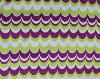 Marbled Stripe JD56 Heirloom Joel Dewberry for Free Spirit/Westminister Fabric, Purple and Lime Waves