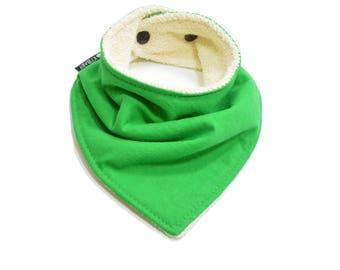 Organic Green Bandana Bib | Green Baby Boy Bib | Green Baby Bib | Baby Shower Gift | Boy Bibdanas