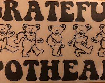 Grateful Dead Instant Pot Decal, Grateful Dead Crock Pot Decal
