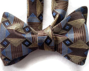 Silk Bow Tie for Men - Telluride -One-of-a-Kind, Self-tie - Free Shipping