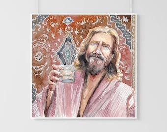 The Dude - The Big Lebowski - original art print