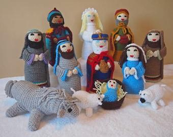 Christmas Nativity Set Handmade Crochet