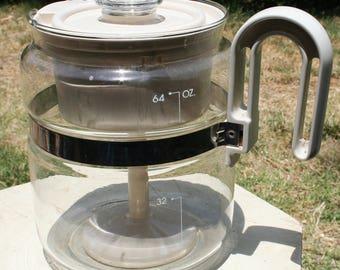 Vintage Gemco Percolator Coffee Pot/White
