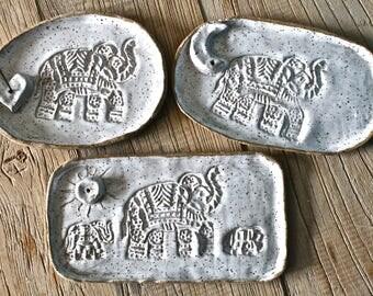 Stoneware incense burner. Ceramic incense holder. Pottery stick incense holder- Elephant incense holder-Elephant pottery