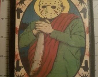 Jason Voorhees Wood Plaque
