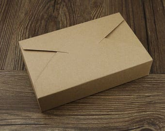 25x Natural Kraft Paper Boxes | Bomboniere Favour Box | Wedding & Party Gift Box for Bakery Cookie Cake Slice Bomboniere