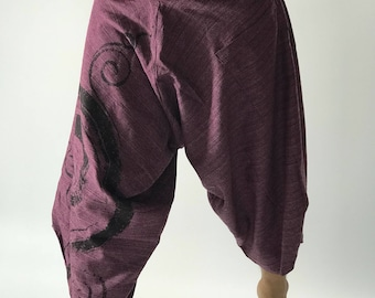 HC0197 samurai pants with Coconut button up cotton pants