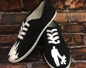 Walt Disney & Mickey Laced Shoes. FREE PERSONALIZATION. Walt Disney and Mickey Walking. Walt Disney and Mickey Statue Shoes.