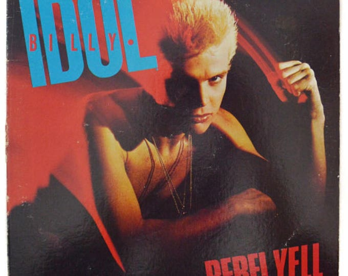 Vintage 80s Billy Idol Rebel Yell New Wave Rock Album Record Vinyl LP