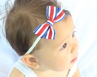 4th of July Headband, Headbands 4th of July , Patriotic Baby Headband, 4th of July Newborn Headband, Baby Girl Headband, USA Flag Headband
