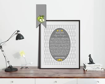 60 Reasons we love you gift, birthday, anniversary, favourite things, all the things, memories, love you, mom, retirement, printable, M9, S9