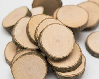 50 Wooden tree slices