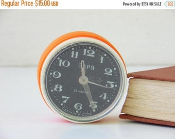 ON SALE Vintage Soviet Mechanical Alarm Clock - Made in CCCP