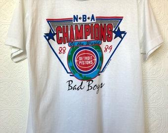 1980's Detroit Pistons Bad Boys NBA Champions 50/50 Tee