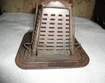 Rustic Camp Stove Top Toaster Bread Browner Lamp Shade