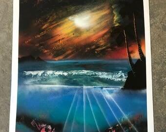 Spray Paint Art. Under the sea