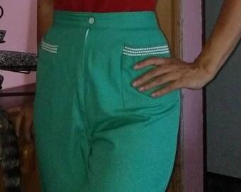 1950 green pedal pushers pants
