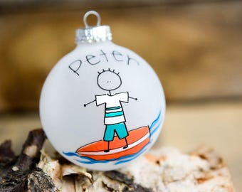 Surfer Christmas Ornament - Personalized for Free