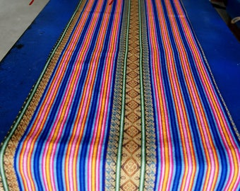 South American Ethnic Table Runner 240x32 cm Brown Blue Red Ecrue Table Clothes wool crafted amazing decoration Boho chic tribal long runner