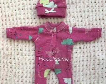 "8"" pink sleeper set"