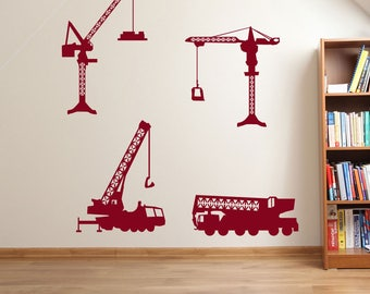 Cranes Construction Building Wall Stickers A59