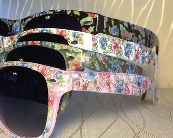 Personalized Floral Sunglasses for Bachelorette/Bride/Bride to be/Girls/Bach/wine weekend