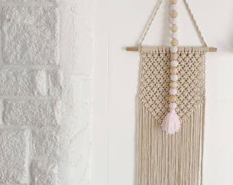 Pink Beaded Wall Hanging