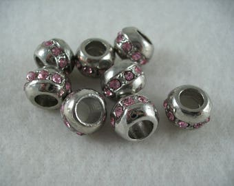 Metal bead, 8 pieces  (835)