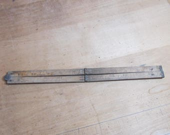 Folding wooden Ruler; Boxwood 24 in.; 1920