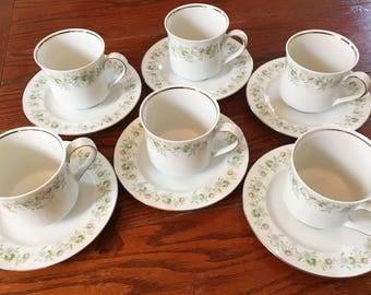 Johann Haviland Forever Spring Cups & Saucers - Set of 6