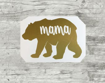 Mama bear decal, mama bear sticker, Papa Bear, family vinyl decals, new baby gift, gifts for mom, car decal, baby on board