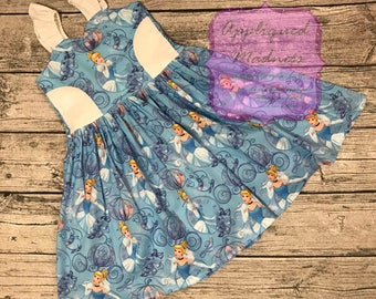 Disney inspired Cinderella cutout ruffle strap dress sizes 2-14