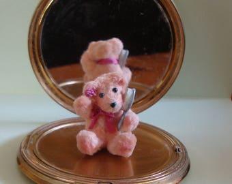 Bella, one of a kind chenille stem miniature bear .