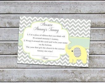 Baby Shower Games Measure Mommy's Tummy How Big Is Mommy's Belly Game Cards Instant Download (88MMT)