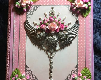 pink heart journal