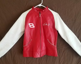 Wilsons Leather Jacket NASCAR Budweiser Dale Earnhardt Jr