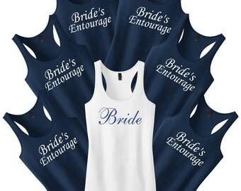 Bridesmaid Shirts.Bachelorette Party Set.Bridesmaid Tank Tops.Bridesmaid Gift.Wedding Shirts.Maid Of Honor Shirt.Bride Shirt.Bride Tank Top