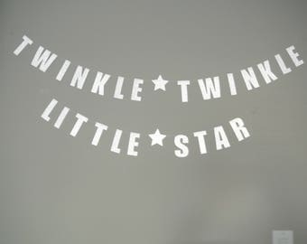 Twinkle Twinkle Little Star Banner. READY TO SHIP! Baby Shower Decor By Paper Rabbit