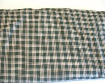 3 Yards Vintage Green Plaid Fabric, Check Fabric, Cotton Fabric Yardage, Quilting Fabric, Woven Fabric, Destash  Fabric, Sewing Fabric Lot