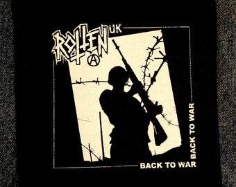 Rotten UK punk patch Back To War