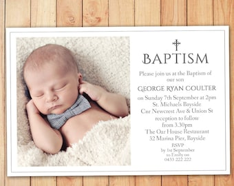 Formal Baptism Invitation