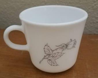Vintage Corning Ware Rose Milk Mug