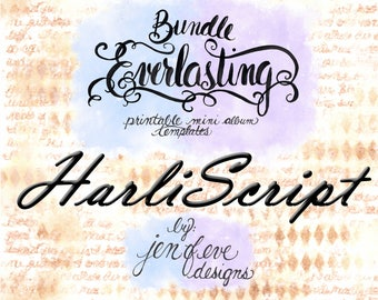 Everlasting & Mini Everlasting Printable Mini album Template Bundle in HarliScript and PLAIN